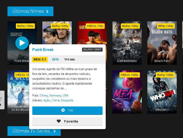 sites para ver filmes e séries online