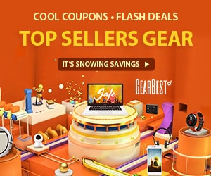 Gearbest Exclusive Discounts on GearBest Top Seller Gears promotion