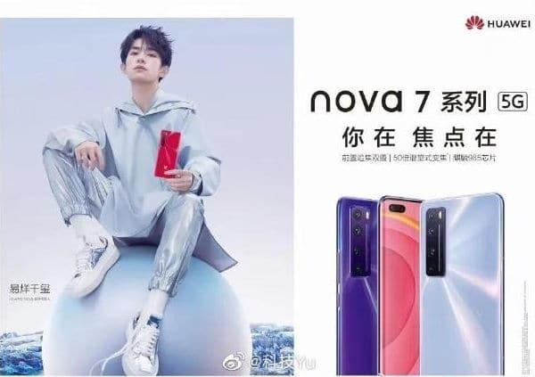 Teaser mostra que Huawei Nova 7 irá ter o ChipSet Kirin 985 2