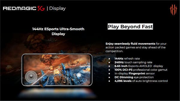 O Todo Poderoso Nubia Red Magic 5G com ecrã de 144 Hz chegou à Europa 4